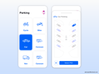 Parking slot booking application concept
