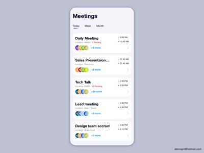 Meeting Schedule App
