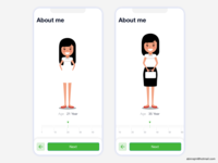 Fitness app - Age selection