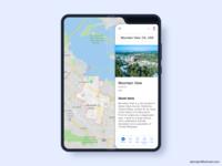 Google Map in Samsung Galaxy Fold
