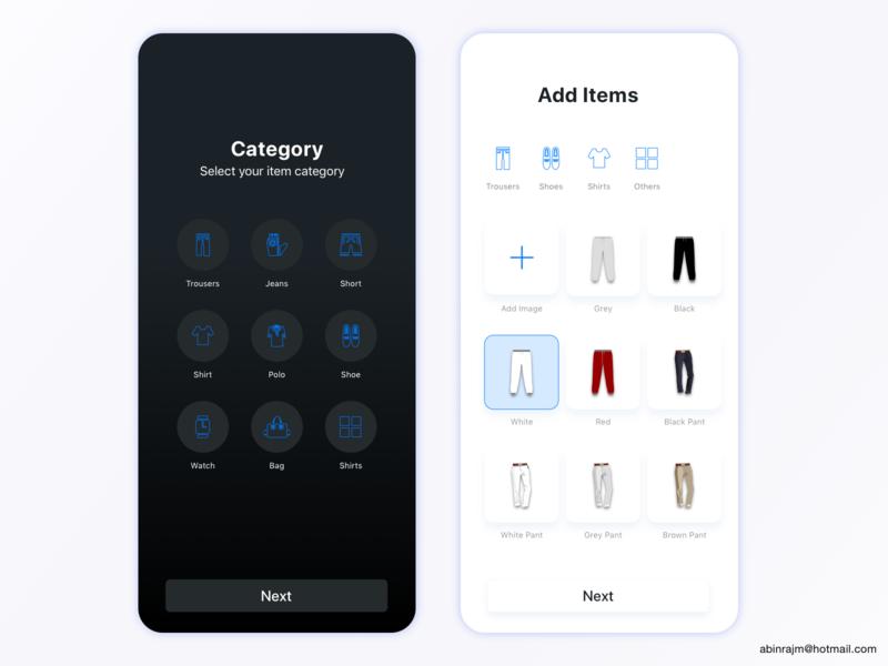 Daily Dress Management App dress management app designspiration design dashboard mobile