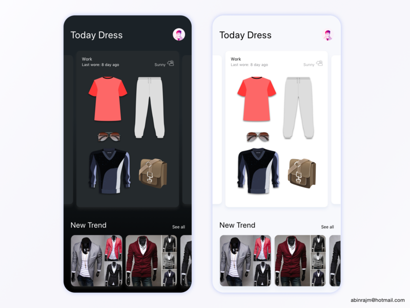 Daily Dress Management App categories designspiration dashboard accessible ux
