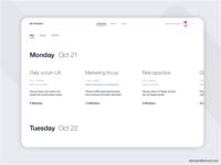 Minimal Timeline & Management Tool concept