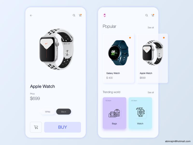 Watch Shop Mobile App concept designspiration ux accessible mobile ecommerce app shop
