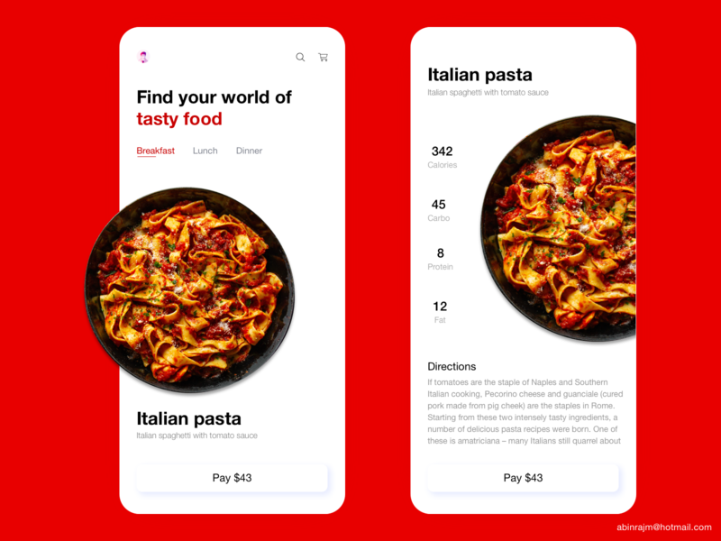 Recipe app design app food analytic dashboard color theory mobile accessible ux