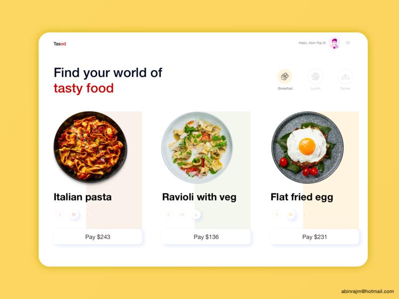 Tasod Food Delivery Dashboard food app designspiration ui dashboard accessible ux