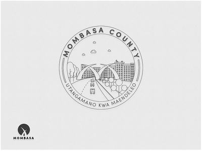 Mombasa County Badge minimalist design minimal logo lettering branding identity logos inspiration marketing icon modern font city logo badge drawing freebie