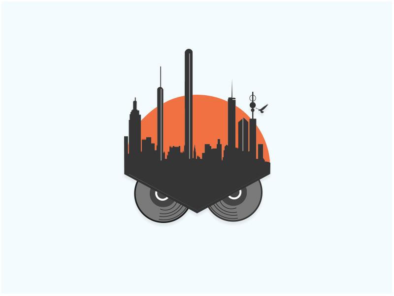 Owl City Entertainment Group freebie badge drawing city logo modern design icon marketing inspiration identity logos branding music production minimal logo entertainment