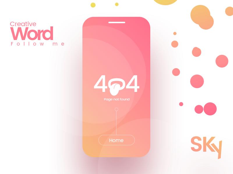 Error 404 branding marketing identity art material design subtle gradients minimal design beauty fashion android ios error 404