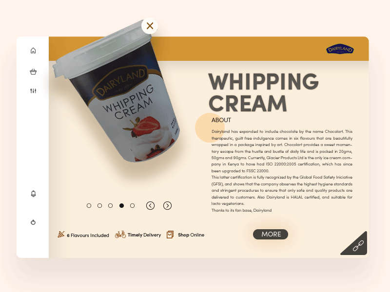 Chocolate Whipping Cream cream freebie milk chocolate theme ui ux portfolio marketing identity icons packaging minimal landing page