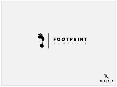Footprint Boutique design app android ios fashion logo abstract minimal apparel material design boutique profile identity marketing branding