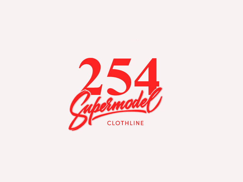 254   Supermodel Inc ux  ui nairobi apparel design apparel logo freebie typography illustration minimalist material design inspiration branding marketing retro vintage logo minimal design