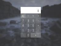 DailyUi #004: Calculator