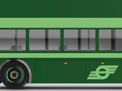 Retro Livery graphic illustration ireland branding dublinbus dublin bus design