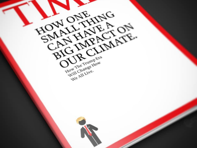 Small Time time magazine trump illustrator publishing magazine print photoshop graphic design