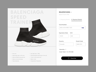Daily UI — 002 check out fashion app daily 100 dailyui ux ui