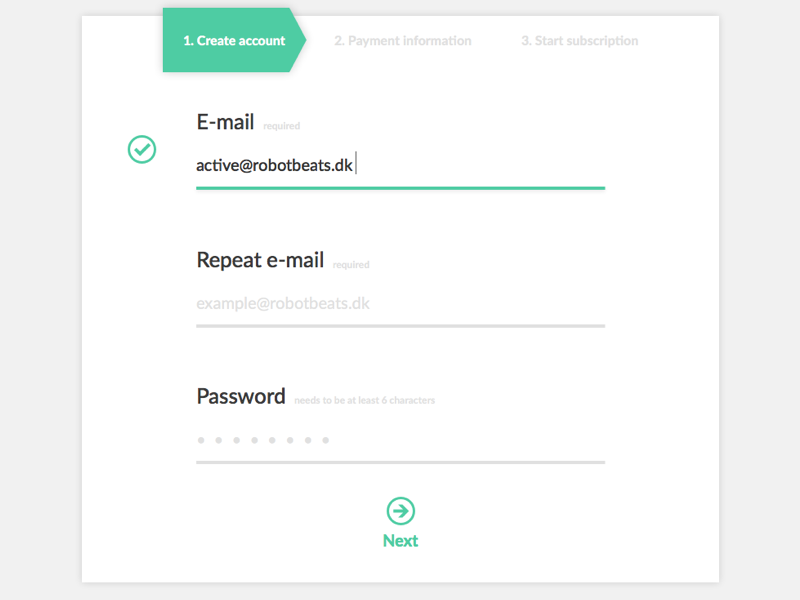 My failed attempt at DailyUI challange sign-up dailyui