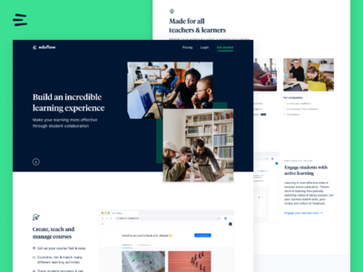 New landing page for Eduflow
