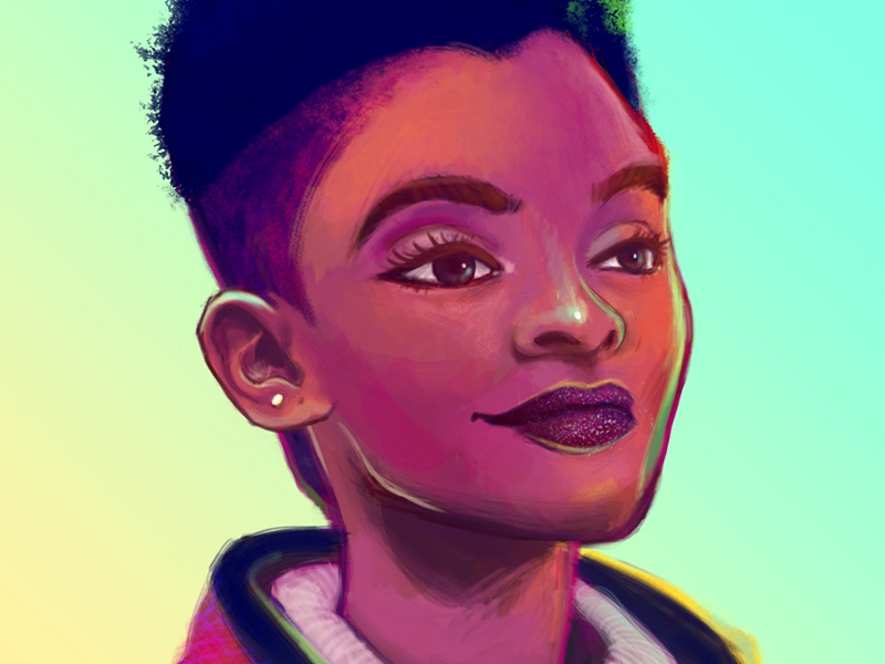 Dribble neon girl 1