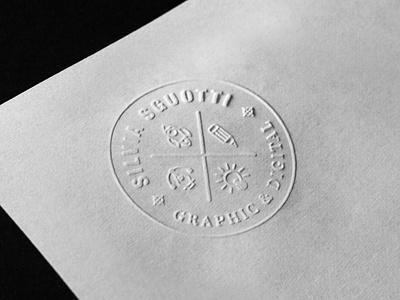 Self Branding | Dry Stamp stamp label badge branding self identity self branding logo icon design illustrator adobe vector graphic design