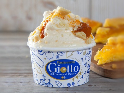 Giotto Ice Cream Shop | Packaging 02 ice cream graphic design pattern texture packaging packaging design illustration flat blue gold adobe illustrator food vector identity branding identity design