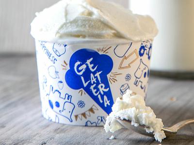 Giotto Ice Cream Shop | Packaging 04 texture pattern ice cream shop ice cream cone food ice cream identity icon design branding illustration vector adobe illustrator graphic design