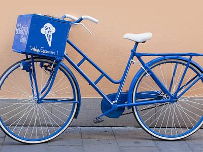 Giotto Ice Cream Shop | Bike branding agency bicycle bike blue logo brand and identity branding brand illustration illustrator graphic design