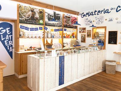 Giotto Ice Cream Shop | Interior 01 interior design interior logo identity design branding illustration vector illustrator adobe graphic design