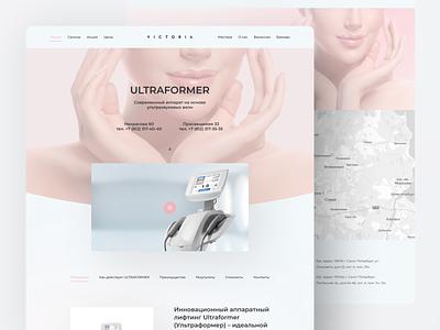 Victoria Salon web design tilda landing figma