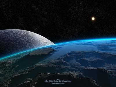 Irin - On The Edge Of Forever sun celestial fantasyart fantasy 3dart digitalart planets fractal stars exoplanet scifiart scifi spaceart space isosurface volumetrics procedural moon spacescape mojoworld