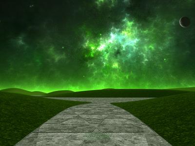 Baraxus Proxima V - Emerald Essence alien celestial fantasyart fantasy 3dart digitalart planets moon procedural exoplanet stars space scifiart scifi nebula fractal apophysis mojoworld spacescape spaceart
