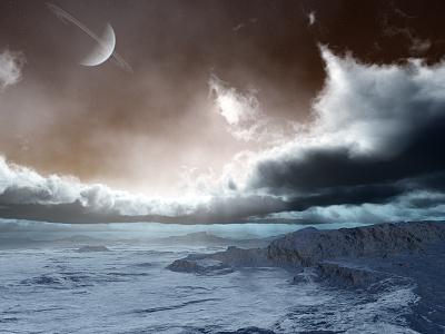 Ambient Nature clouds stars moon planets isosurface volumetrics procedural fractal celestial exoplanet fantasyart fantasy scifiart scifi spaceart space 3dart digitalart spacescape mojoworld
