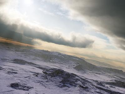Coming Home To The Sun clouds sunset sunrise sunrays isosurface volumetrics procedural fractal celestial exoplanet fantasyart fantasy scifiart scifi spaceart space 3dart digitalart spacescape mojoworld