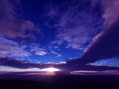 Only This Moment clouds sunrays sunset sunrise isosurface volumetrics procedural fractal celestial exoplanet fantasyart fantasy scifiart scifi spaceart space 3dart digitalart spacescape mojoworld
