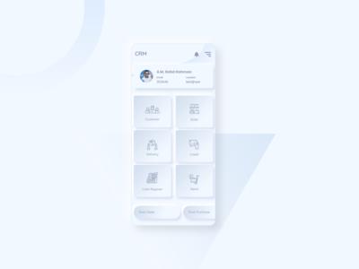 Neomorphic App UI