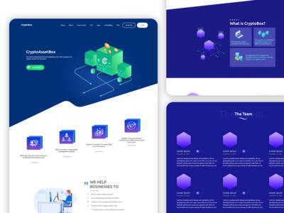 CryptoBox Website design