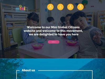 Kids NGO website Template bangladesh 2020 maxrafat creativerafat adobe xd ui kids app kids ngo website template kids ngo website template kids