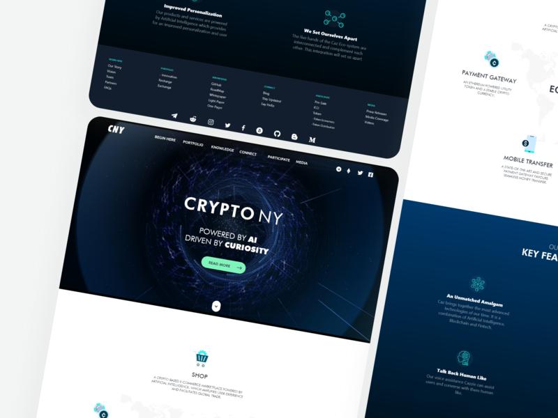Crypto NY Website design ny ui block chain adobe xd creativerafat crypto currency crypto