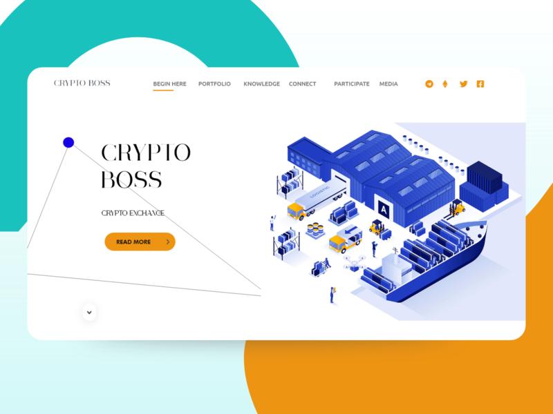 Crypto Bitcoin Website design template