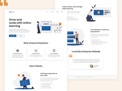 Landing Page for KeyToZ
