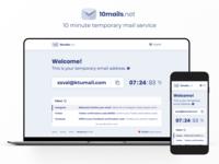 10mails.net Website Design