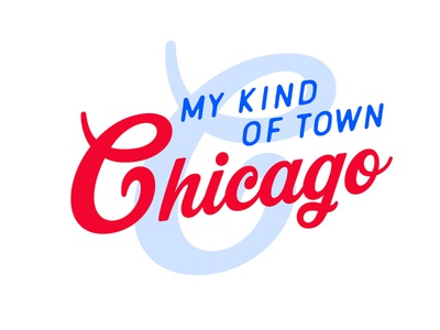 Chicago is... song quote chicago type logo design