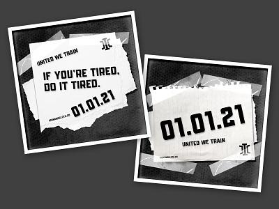 Iron + Cloth: Instagram Posts tape torn paper textures design fitness branding instagram digital photoshop