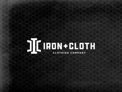 Iron + Cloth: New logo! minimal typography fitness gym vector branding logo design