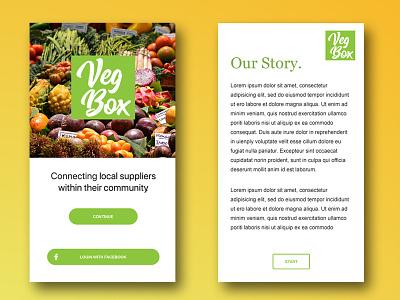 Veg Box store vegetable veggies community suppliers connecting ui app