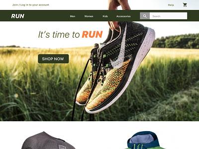 Run race marathon fitness running run design ux ui website web
