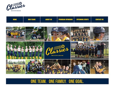 Michigan Classics Softball team chelsea michigan softball design ux ui website web
