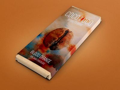 Coco Loco -  Blood Orange Dark Chocolate blood orange label 3d candy packaging chocolate design