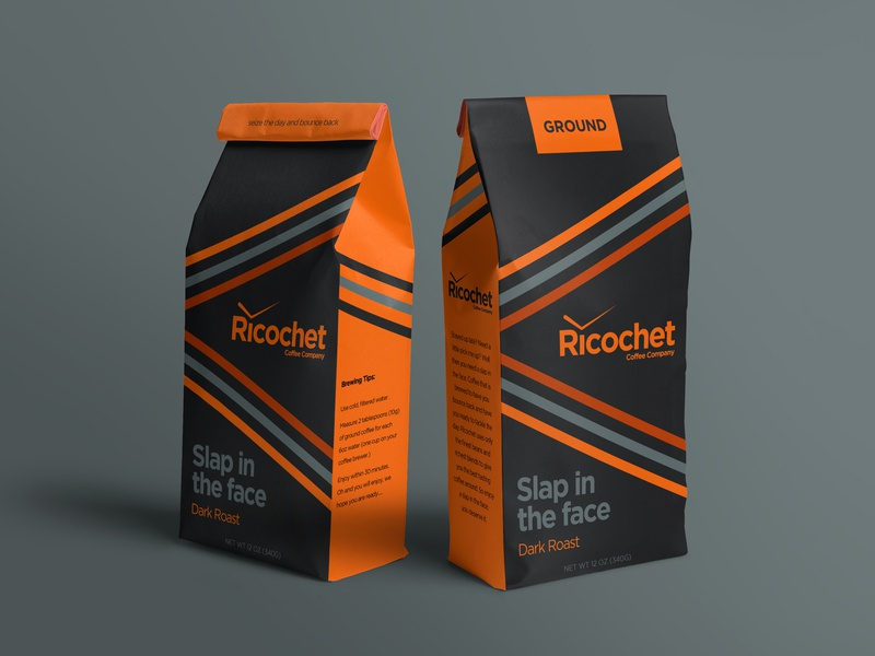 Ricochet - Slap in the face branding packagingdesign packaging coffee
