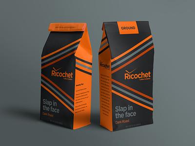 Ricochet - Slap in the face branding packagingdesign packaging coffee